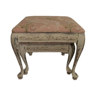 Shabby French Cottage Footstools - A Pair
