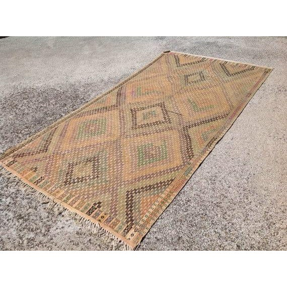 Vintage Turkish Kilim Rug - 5′4″ × 10′4″ - Image 3 of 6