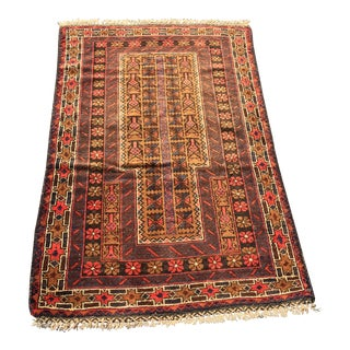 "Vintage Persian Baluchi Prayer Rug- 2'7"" x 4'5"""