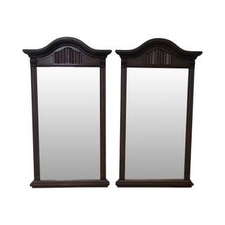 Ethan Allen Royal Charter Oak Jacobean Style Mirrors - Pair