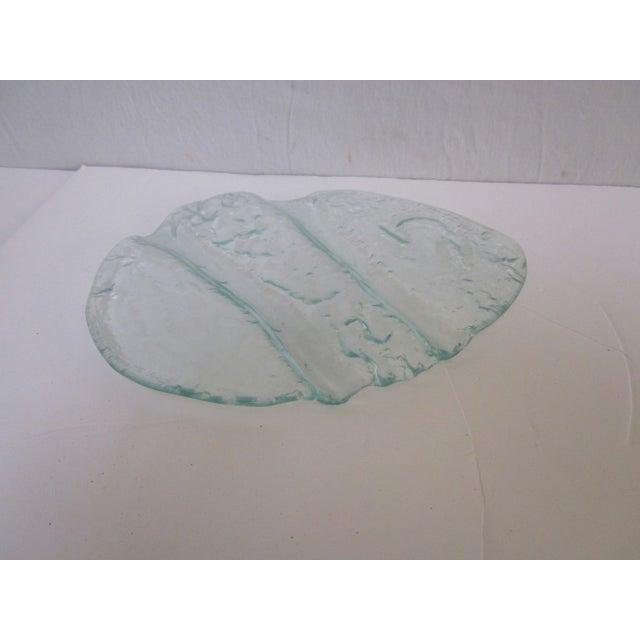 Image of Modernist Art Glass Platter Tray Plate Dish