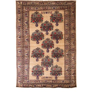 """Floral Pattern Hand Knotted Area Rug - 6'7"""" X 9'4"""""""