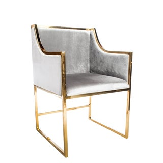 Erin Chrome Gold Dining Chair