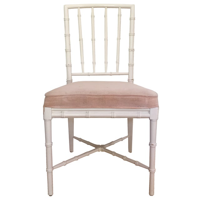 Faux Bamboo Chinese Chippendale Chairs - Set of 4 - Image 1 of 5