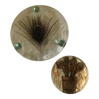 Mid-Century Acrylic Trivets - A Pair
