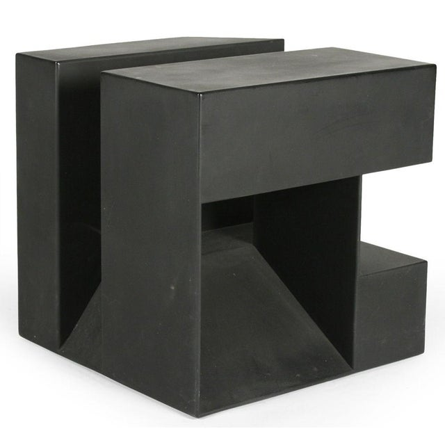 """Black Cube"" Aluminum Sculpture by Alfredo Halegua - Image 7 of 10"