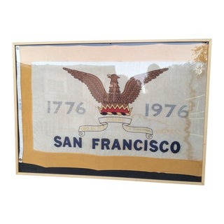 Vintage San Francisco Framed Flag