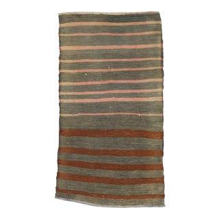 Vintage Striped Kilim Rug - 1′11″ × 3′7″