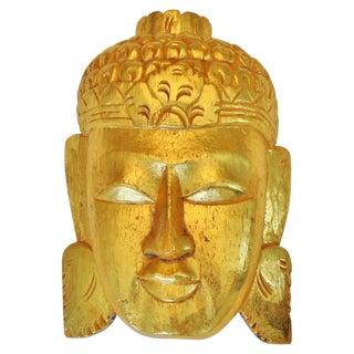 Vintage Giltwood Buddha Mask