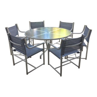 Brown Jordan Round Table & Chairs