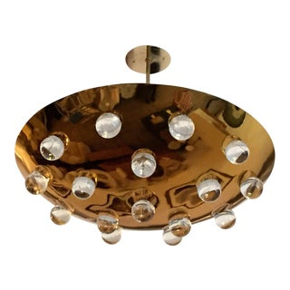 1960s Vintage French Pendant Flush Light