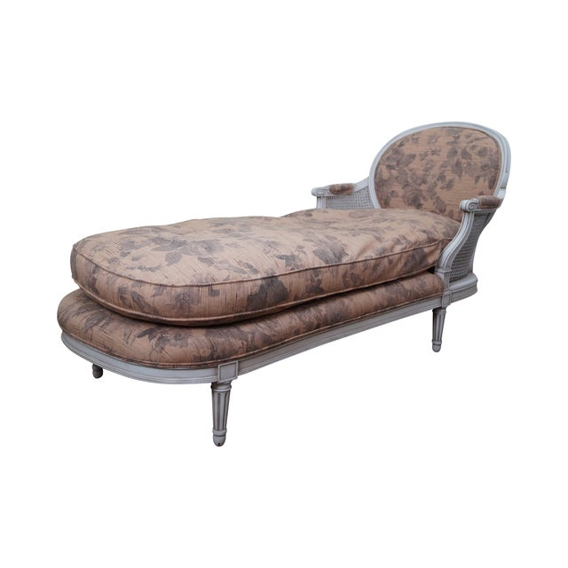 Quality french louis xvi style chaise lounge chairish for Chaise louis xvi