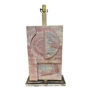 Mid-Century Modern Monumental Cubist Lamp by Casual Lamps