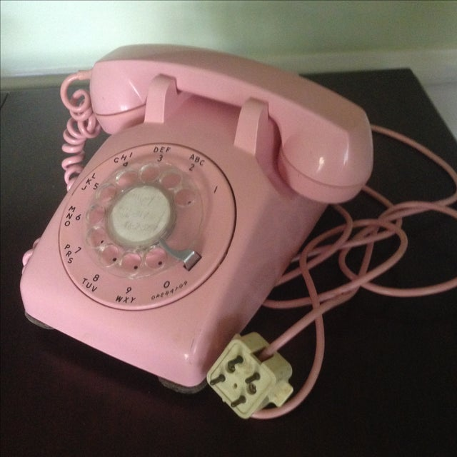 Vintage Pink Rotary Dial Telephone - Image 4 of 11