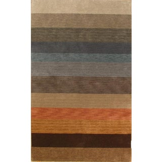 Pasargad NY Hand-Knotted Modern Area Rug - 5' x 8'