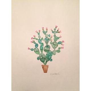 """Summer Cactus"", Original Watercolor"
