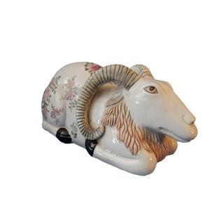Famille Rose Porcelain Figure of A Ram
