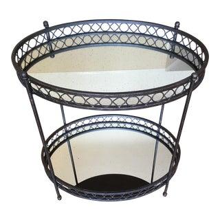 Dark Brass Mirrored Bar Cart