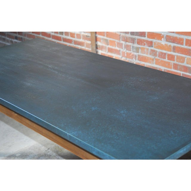 Zinc Topped Farm Table - Image 3 of 11