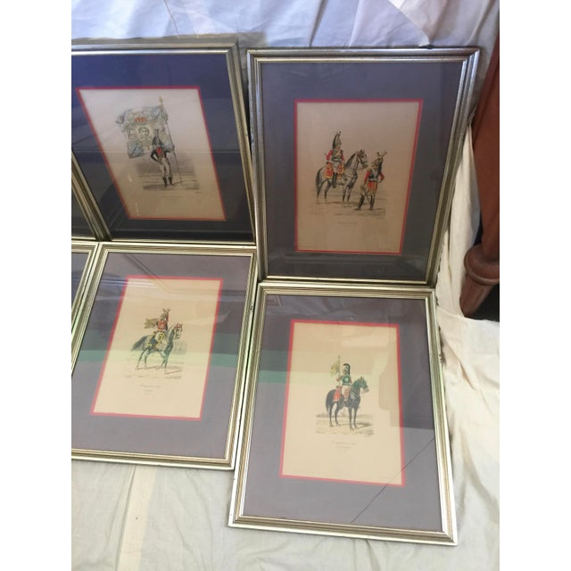 6 Matching Antique French Military Prints Hand Colored Eugene Titeux - Image 3 of 11