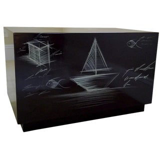 Sea & Cars Side Table by Ramiro Medina
