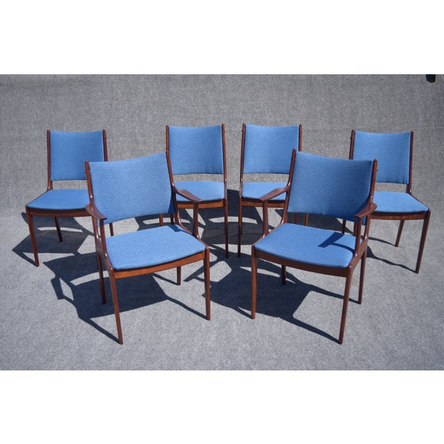 Johannes Andersen Danish Modern Rosewood Dining Chairs - Set of 6 - Image 2 of 9