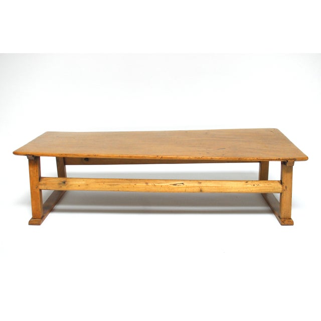 Chinese Rustic Carved Low Coffee Table - Image 2 of 6