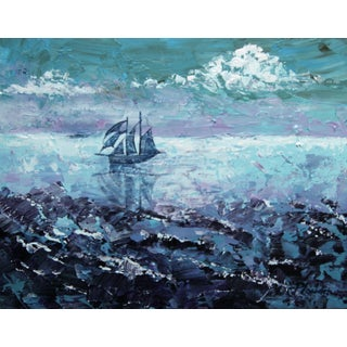 """Irish Sea, Late Afternoon"" Painting C. Plowden"