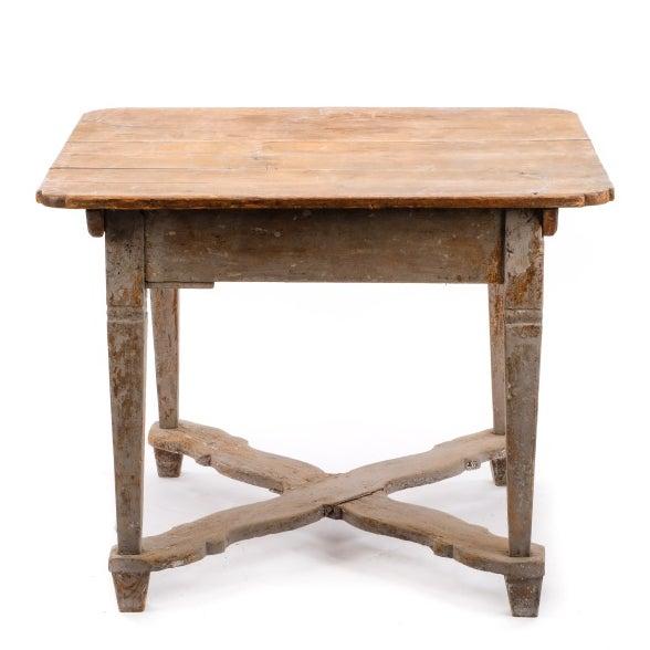 18th Century Gustavian Farm Table - Image 3 of 5