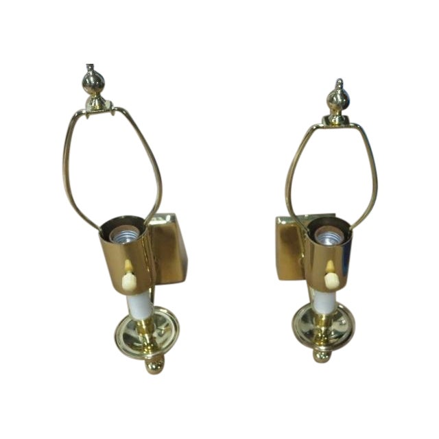 Brass Single Arm Hinson Sconces - 2 - Image 1 of 6