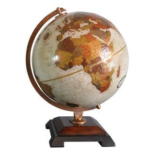 1980s Reploge Platinum Globemaster Relief Globe