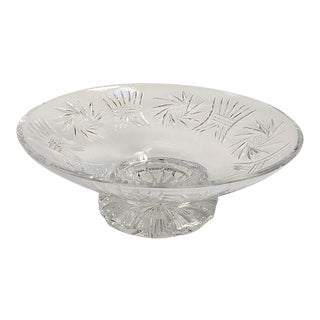 French Crystal Serving Footed Compote Bowl