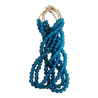 Mediterranean Turquoise Glass Bead Strands- Set of 4