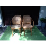Image of Josef Hoffman for Thonet Bentwood Arm Chairs - S/4
