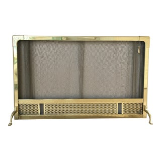 Hollywood Regency Brass Fireplace Screen
