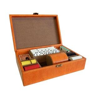 Rare Herman Miller Leather Case Poker Game/Domino