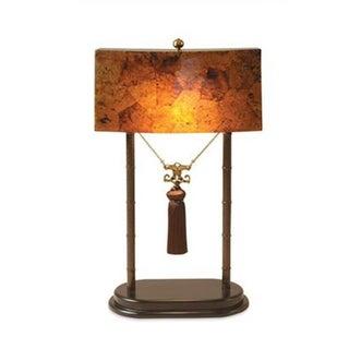 Maitland Smith Faux Tortoise & Iron Table Lamp