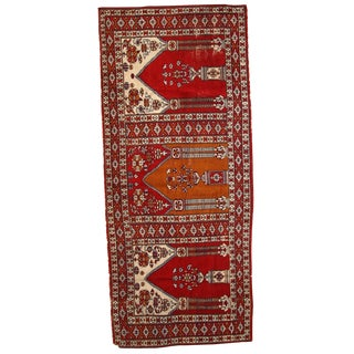 1960s Hand Made Vintage Turkish Rug - 2′7″ × 6′2″