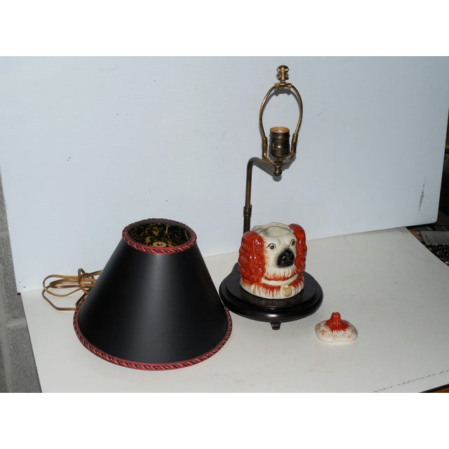 Image of Staffordshire Spaniel Vessel Lamp