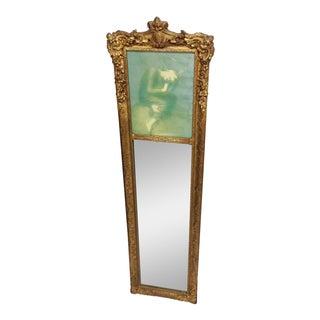 Antique French Gilt Frame Trumeau Mirror