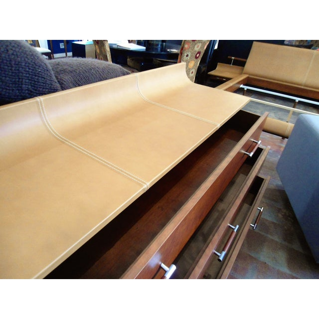 Giorgetti High Curved Leather Top Dresser - Image 3 of 5