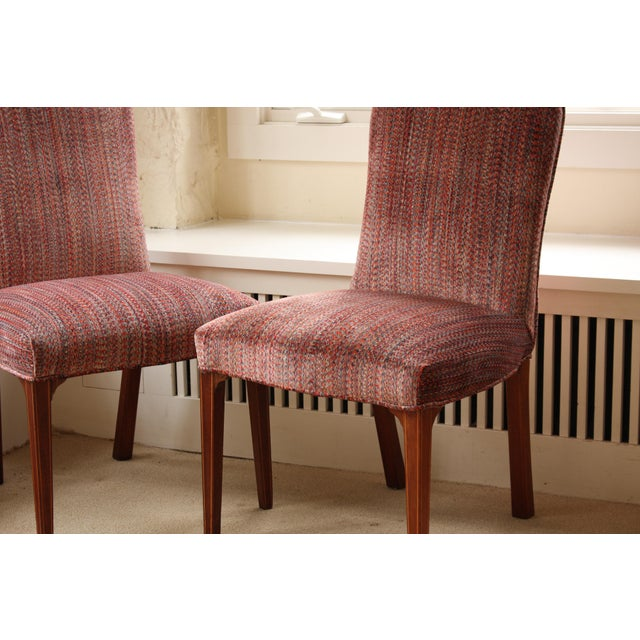 Image of Vintage Upholstered Kittinger Dining Chairs - Set of 6 - Modernized & Updated