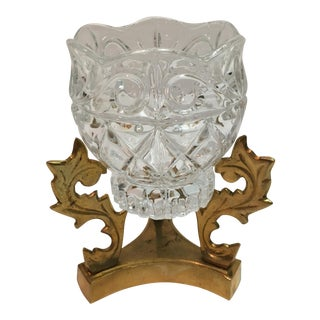 Vintage Crystal Candle Holder