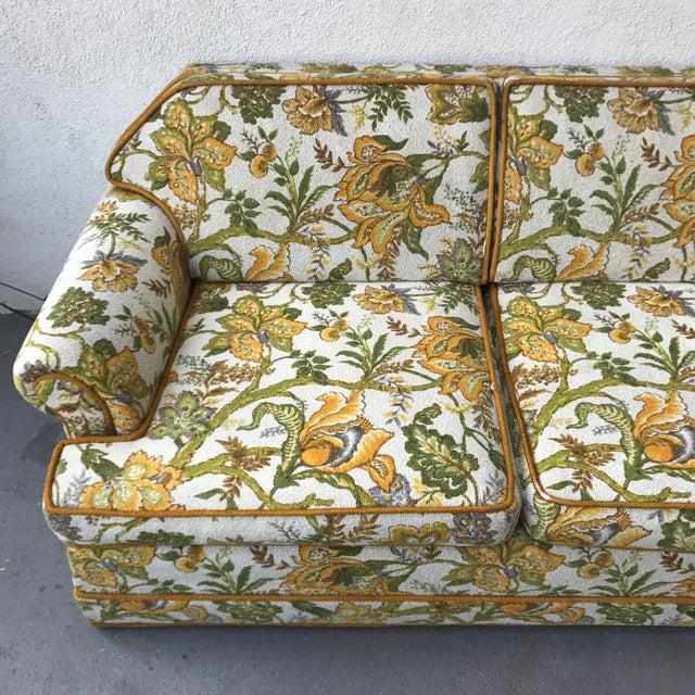 Vintage Mid-Century Modern Upholstered Floral Sofa - Image 5 of 8