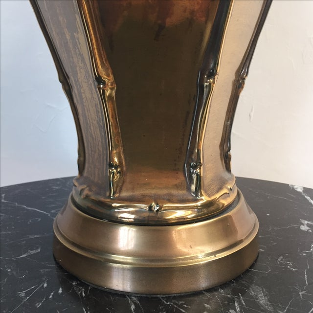 Frederick Cooper Brass Bamboo Table Lamp - Image 3 of 5