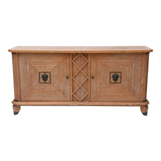 French Modern Cerused Oak and Patinated Bronze Credenza by Andre Arbus