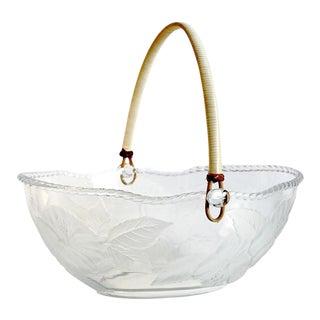 Wicker Handle Glass Basket