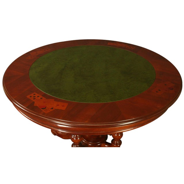 Italian Rococo Round Inlaid Card Table - Image 2 of 5