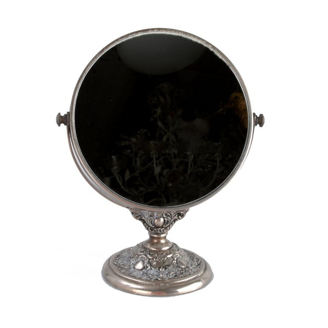 Image of Silver-Plate Vanity Mirror