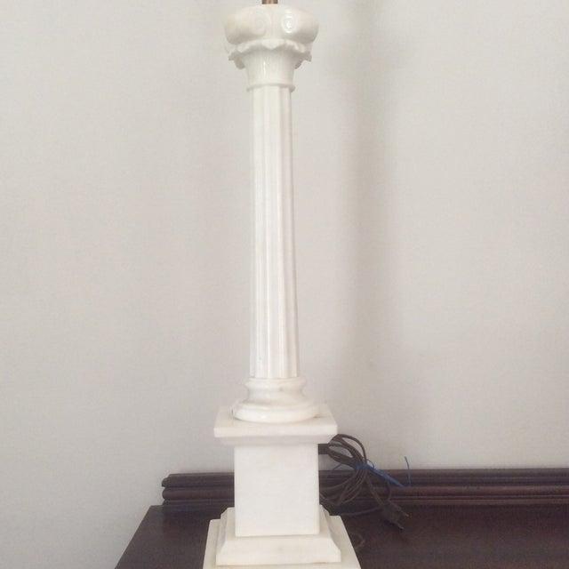 Alabaster Column Lamp - Image 3 of 9